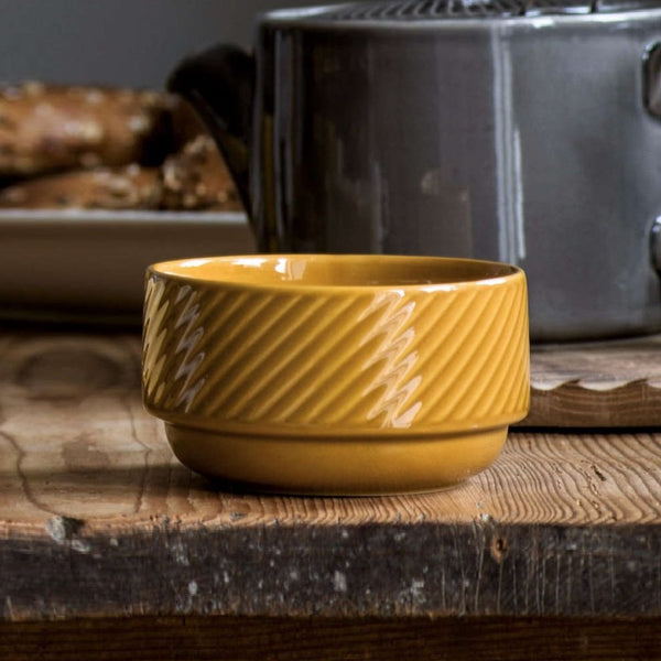 Coffee and More Cereal Bowl - Yellow