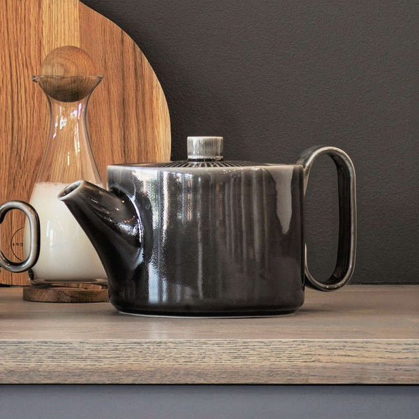 Coffee and More Tea Pot - Grey