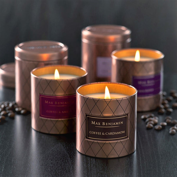 Coffee & Cardamom Scented Tin Candle