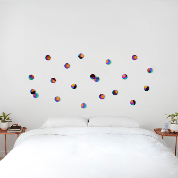 Confetti Dots Wall Display - Rainbow