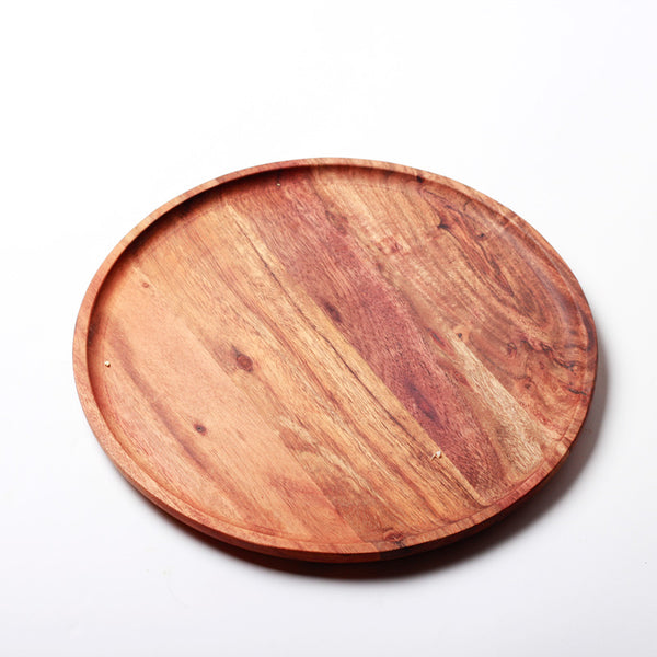 Creek Wooden Round Platter Small
