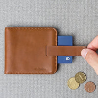 Wally Slim Wallet - Tan