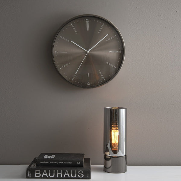 Distinct Metallic Wall Clock - Gun Metal