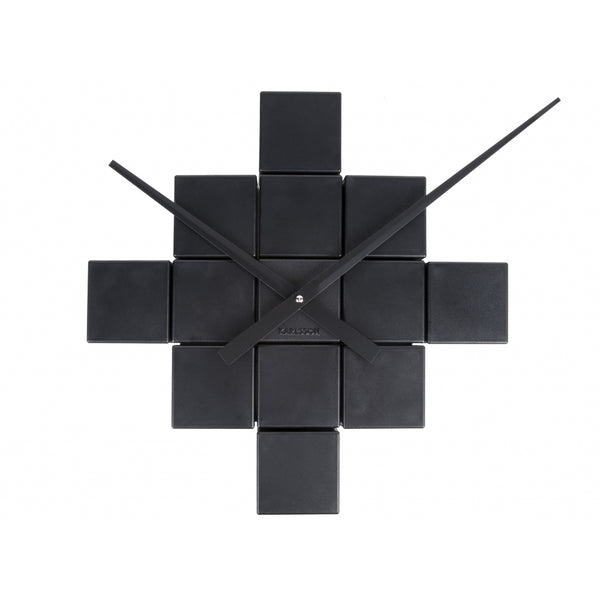 DIY Cubic Wall Clock - Black