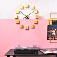 DIY Cubic Wall Clock - Gold