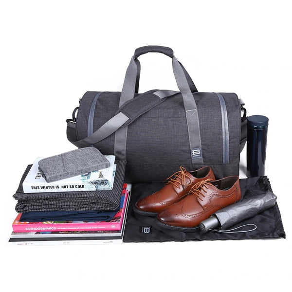 Weekender Duffle Bag - Heather Black