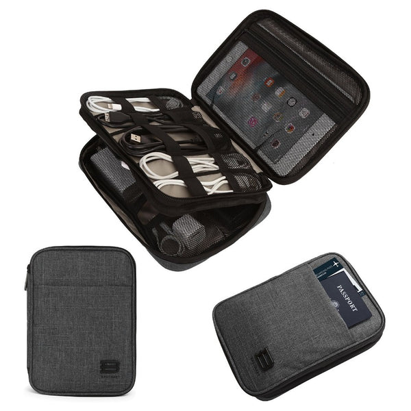 Electronics Organizer, Medium - Heather Black