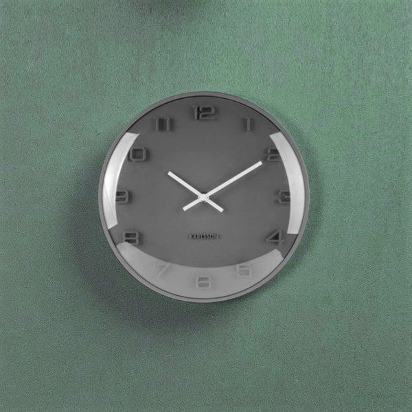 Elevated Dome Wall Clock - Grey