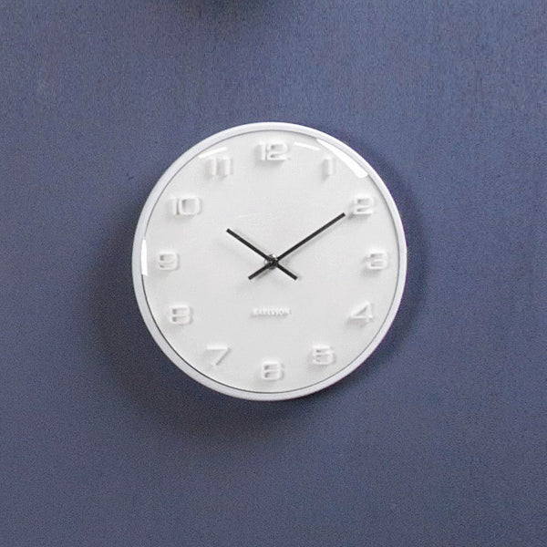 Elevated Dome Wall Clock - White