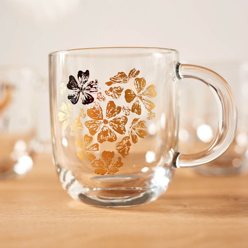Emozione Glass Mug - Flower Heart