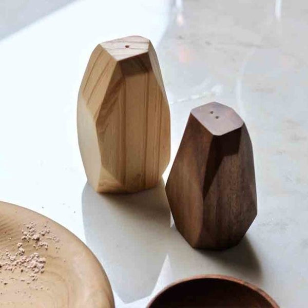 Facet Salt and Pepper Shaker Set