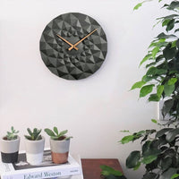 Faceted Wall Clock , Grey