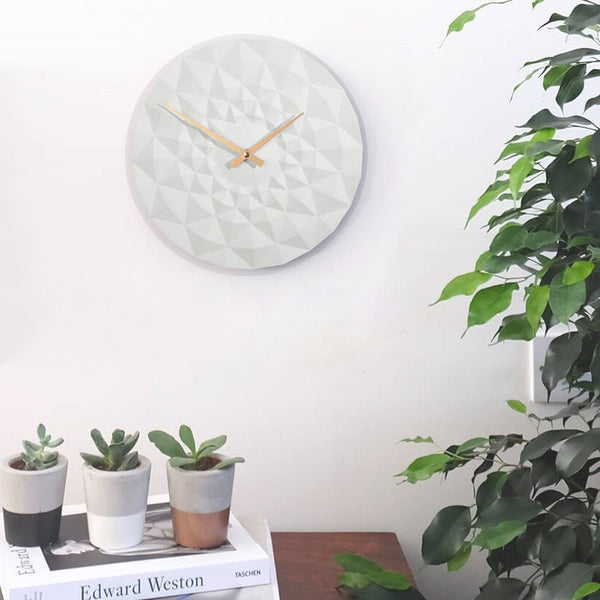 Friction Wall Clock - White