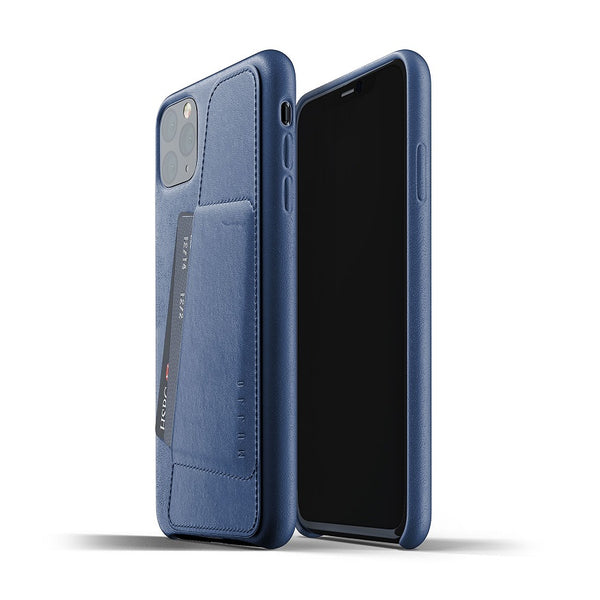 Full Leather Wallet Case for iPhone 11 Pro Max - Monaco Blue