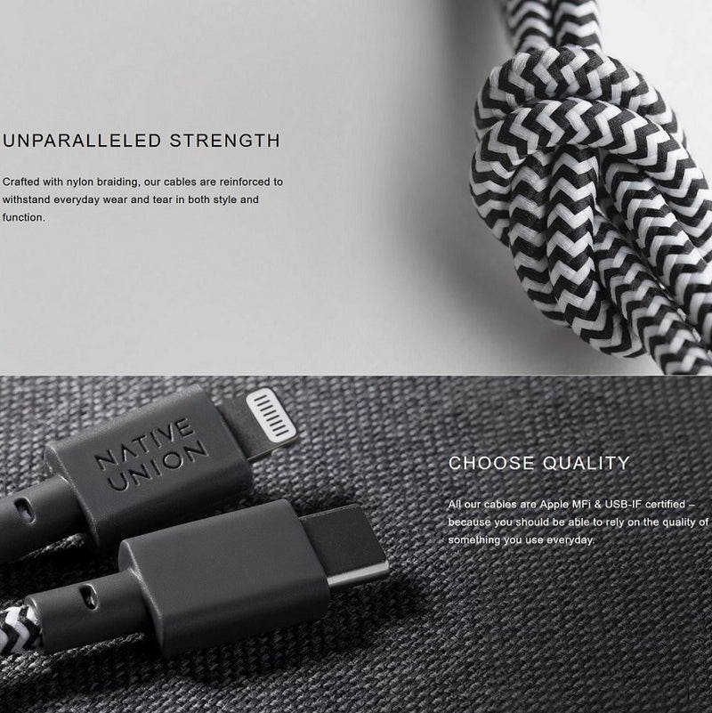 Key Cable Apple USB-A to Lightning - Zebra