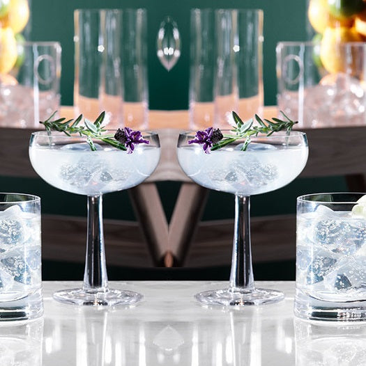 Gin Coupe Glasses, Set of 2
