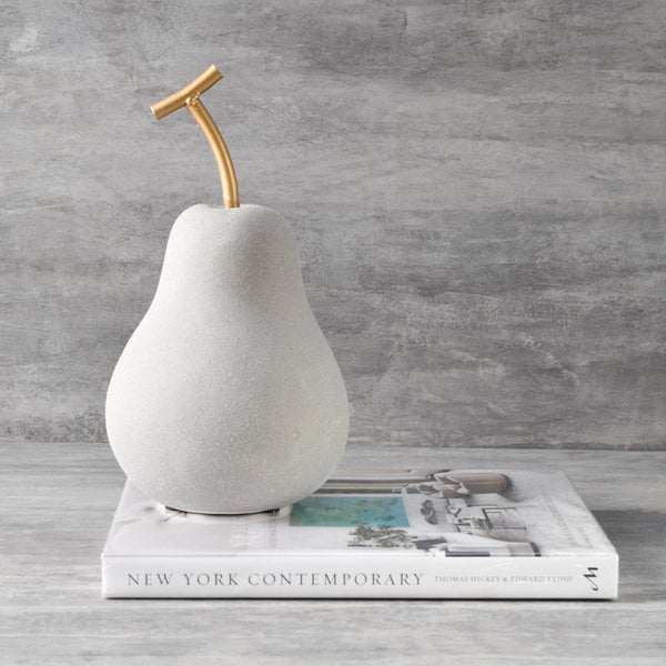 Grey Pear Sculpture