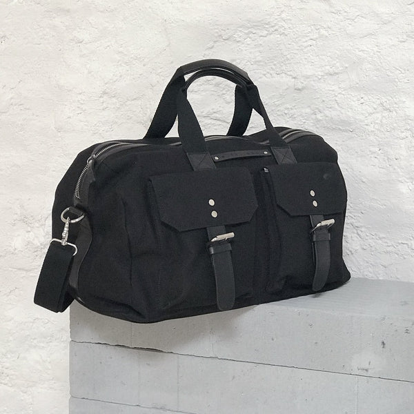 The Hitchhiker Duffle Bag - Black Canvas