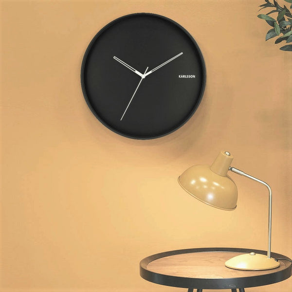Hue Metal Wall Clock - Black