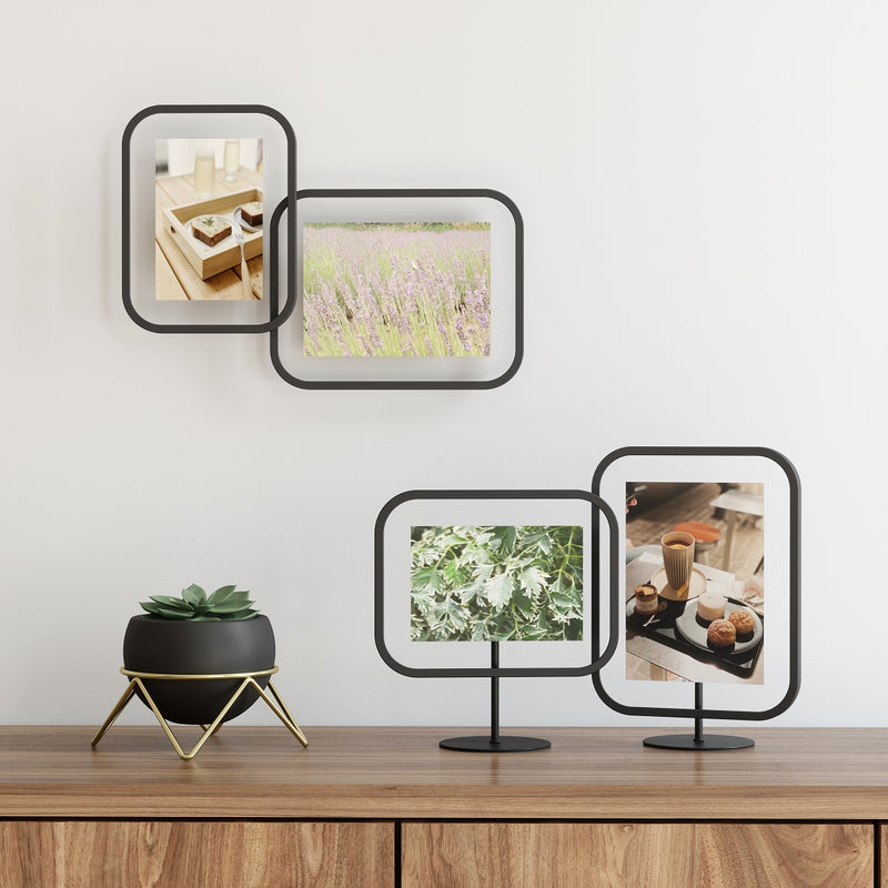Infinity Sqround Photo Frame - Black 4x6