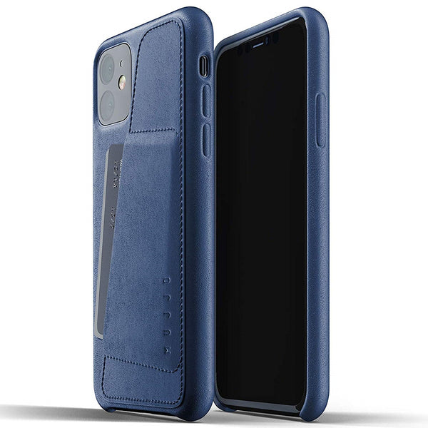 Full Leather Wallet Case for iPhone 11 - Monaco Blue