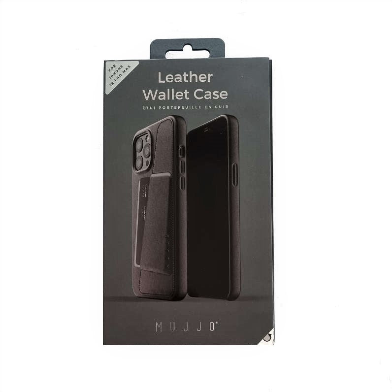 Full Leather Wallet Case for iPhone 12 Pro Max - Black