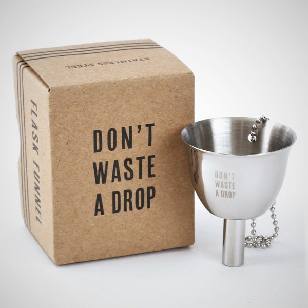 Silver Flask Funnel - Don't Waste a Drop