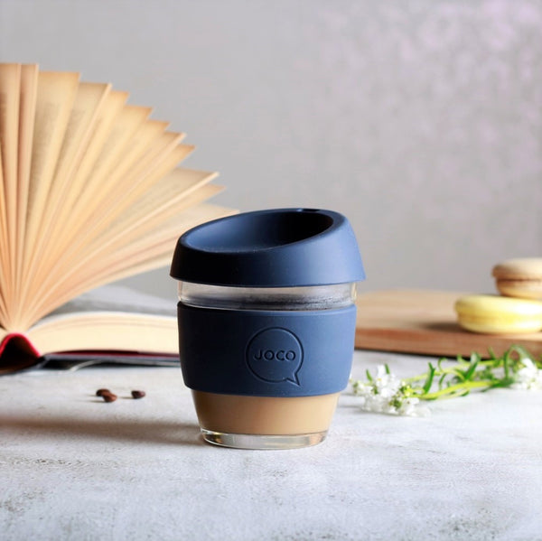 Reusable Glass Cup Small - Mood Indigo