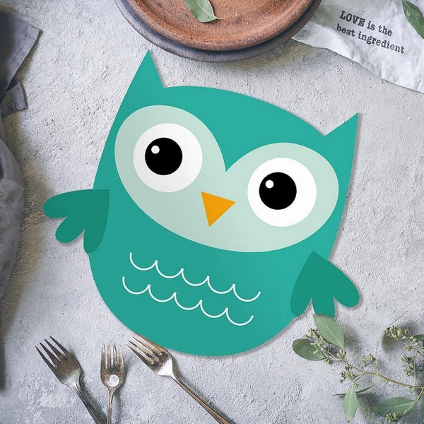 Jungle Placemats, Set of 2 - Green Owl