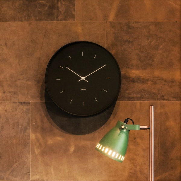 Carter Metal Case Wall Clock - Black