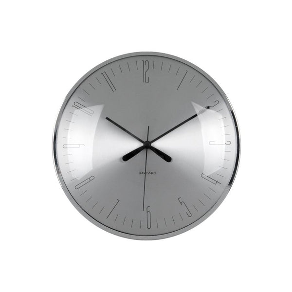 Dragonfly Dome Wall Clock  - Grey