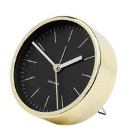 Minimal Black Gold Alarm Clock