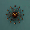 Sunburst Wall Clock - Black