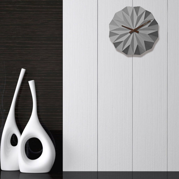 Origami Grey Wall Clock