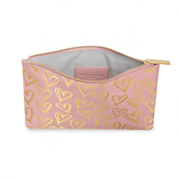 Perfect Pouch - Gold Hearts