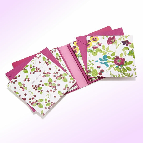 Laura Ashley Parma Violets Notecards