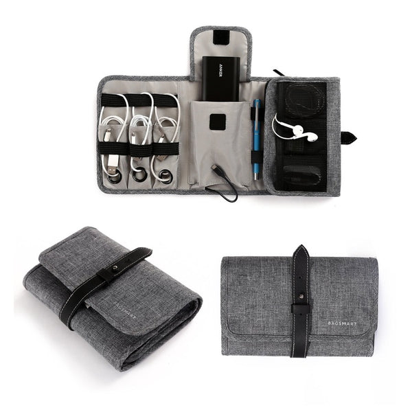 LAX Electronics Organizer - Heather Grey