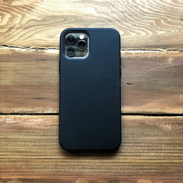 Full Leather Case for iPhone 12 & 12 Pro - Black