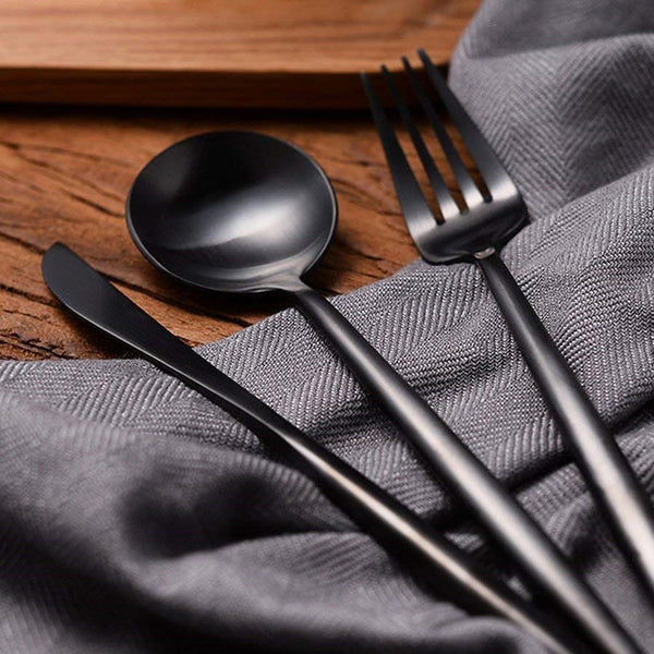 Rosemont 3-Piece Flatware - Gunmetal Black