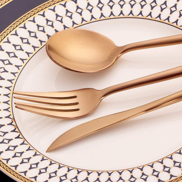 Rosemont 3-Piece Flatware - Modern Copper