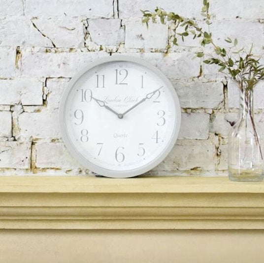 Alice Heritage Wall Clock - White Grey