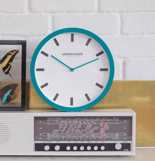 Pop Wall Clock - Teal