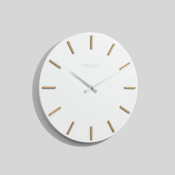 Hvit Wall Clock - White