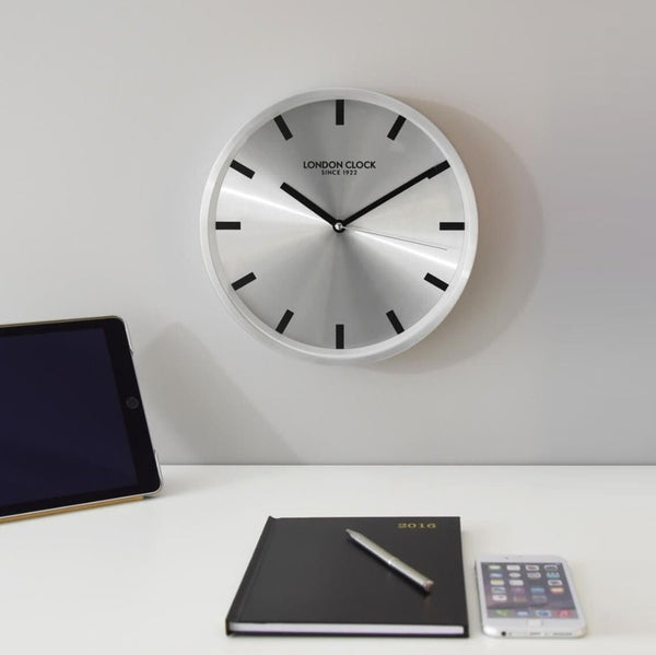 Sleek Wall Clock - Silver