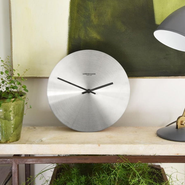 Alloy Wall Clock - Chrome