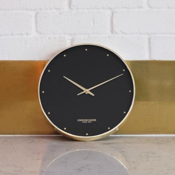 Durrant Wall Clock, Black Gold