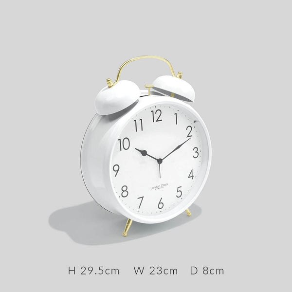 Twinbell XL Alarm Clock - White