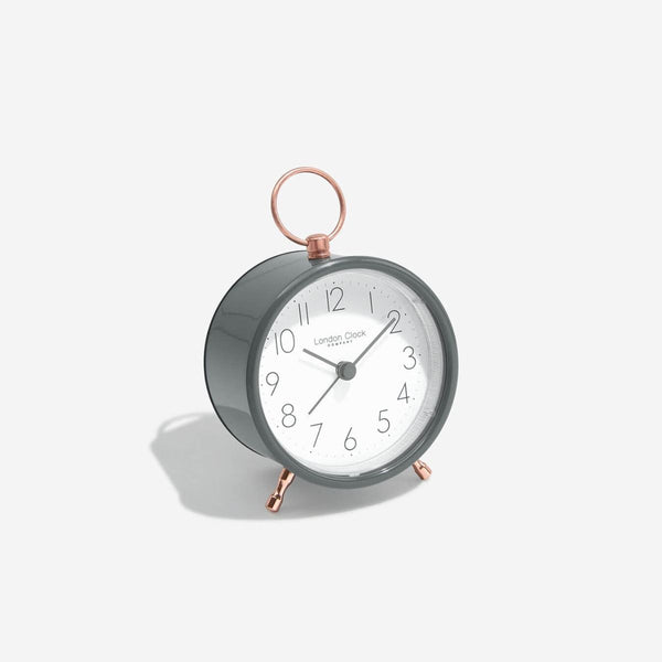 Hoop Alarm Clock - Grey