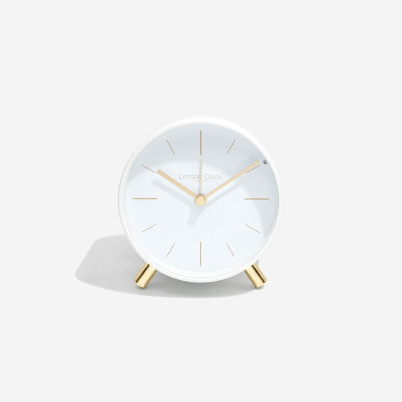 Primo Alarm Clock - White Metal