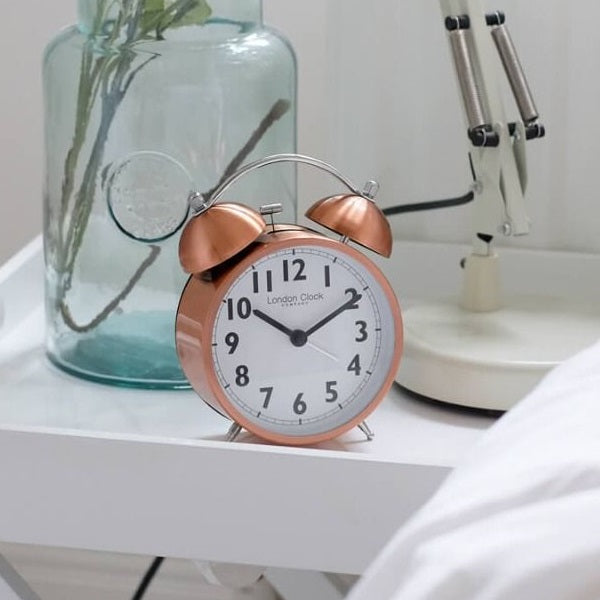 Twinbell Metal Alarm Clock - Copper